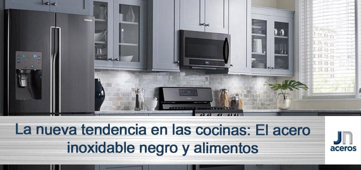 La nueva tendencia en las cocinas: El acero inoxidable negro