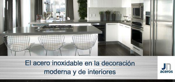 El acero inoxidable en la decoración moderna y de interiores