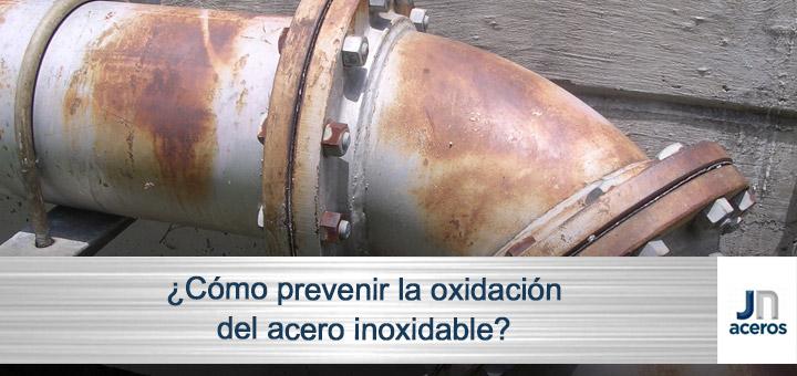 acero inoxidable oxidación