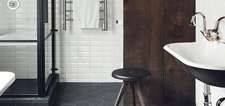 baño acero negro
