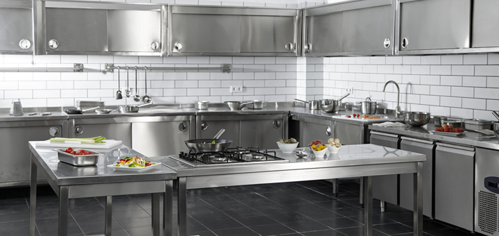 cocina comercial acero