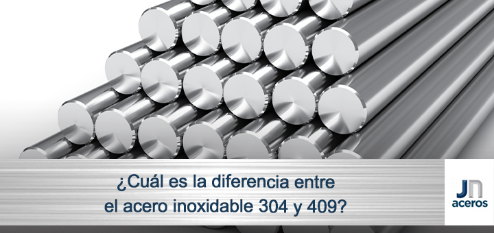 ¿Cuál es la diferencia entre el acero inoxidable 304 y 409?