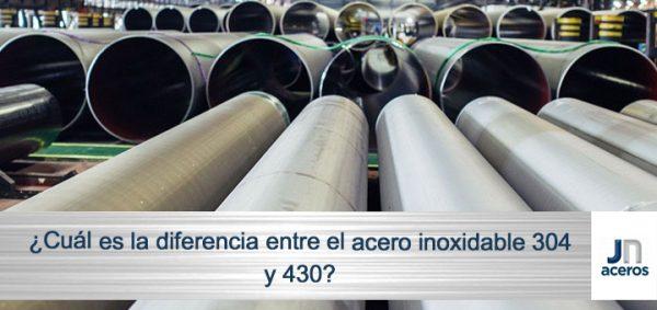 ¿Cuál es la diferencia entre el acero inoxidable 304 y 430?