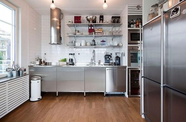 El acero inoxidable en las decoraciones modernas