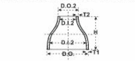 reducciones de acero concentricas con costura