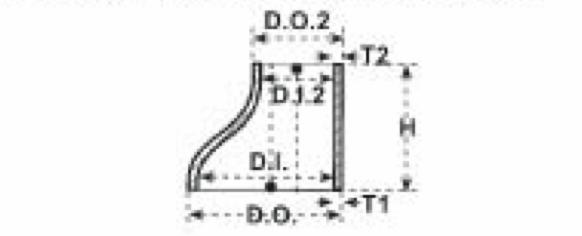 reducciones de acero excentricas con costura